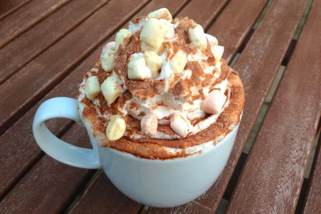 Dairy-free hot chocolate with vegan mini marshmallows