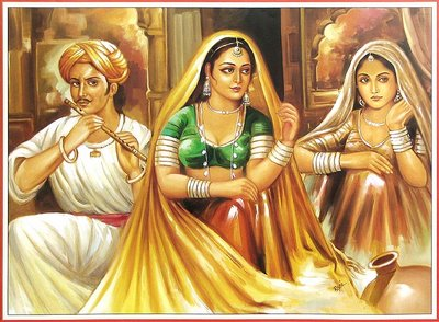 Rajasthani Girls Art Paintings 4