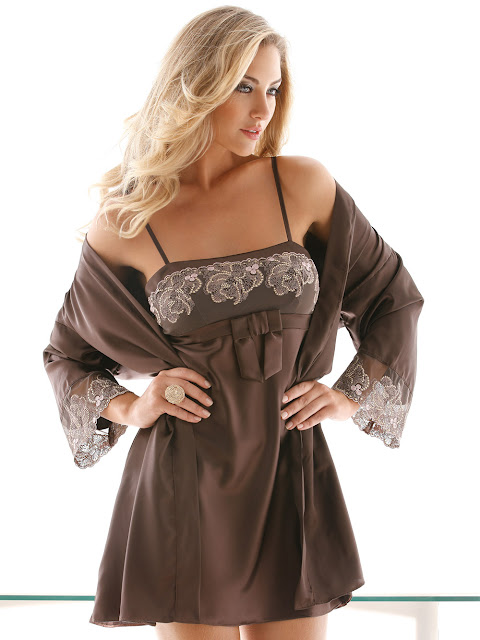 Fique linda com os modelos de robe, short e baby doll