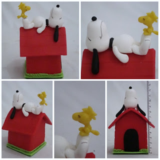 snoopy e woodstock em biscuit