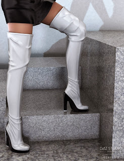 3d Models Art Zone - Hot Night Boots for Genesis 2 Female(s)