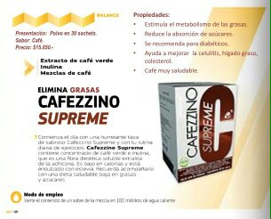 productos omnilife: CAFEZZINO SUPREME (Elimina Grasas)