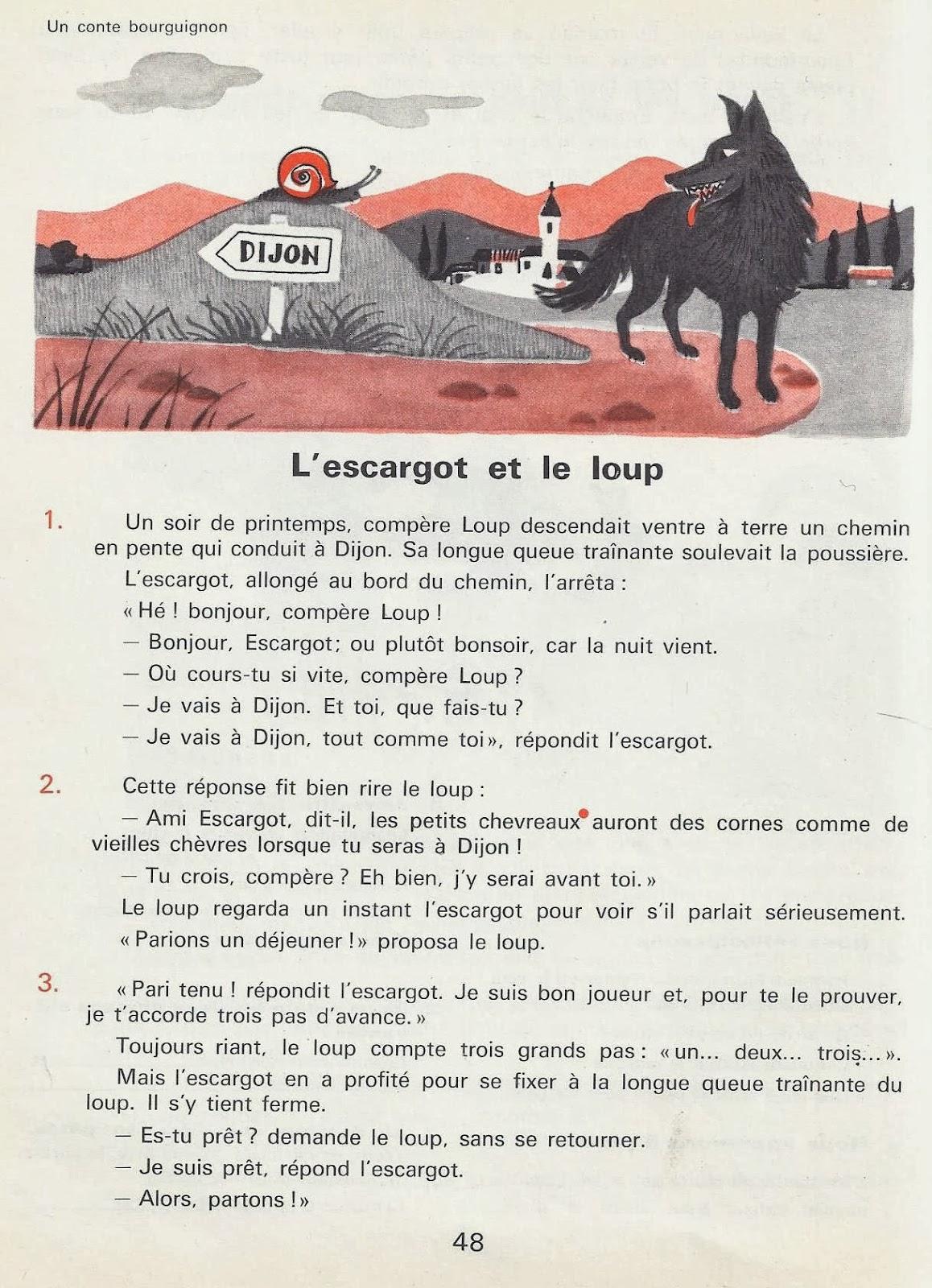 L 39 escargot et le loup conte bourguignon litt rature au - Dessin du lievre et de la tortue ...
