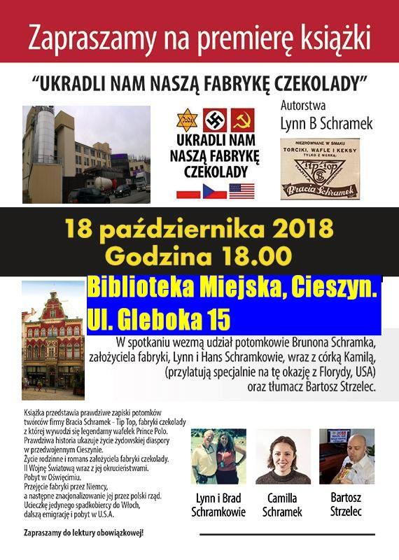 """Książka """"Ukradli nam naszą fabrykę czekolady"""" zapiski potomków cieszyńskich żydów"""
