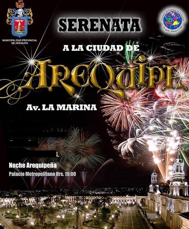 Serenata a la ciudad de Arequipa, escenarios - 14 de agosto