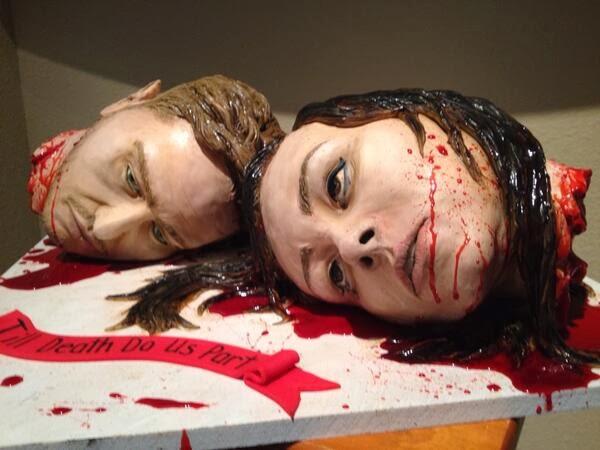 Head Wedding Cake