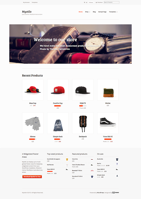 Free e-Commerce WordPress Themes
