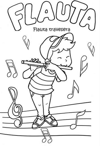 Flauta para colorear