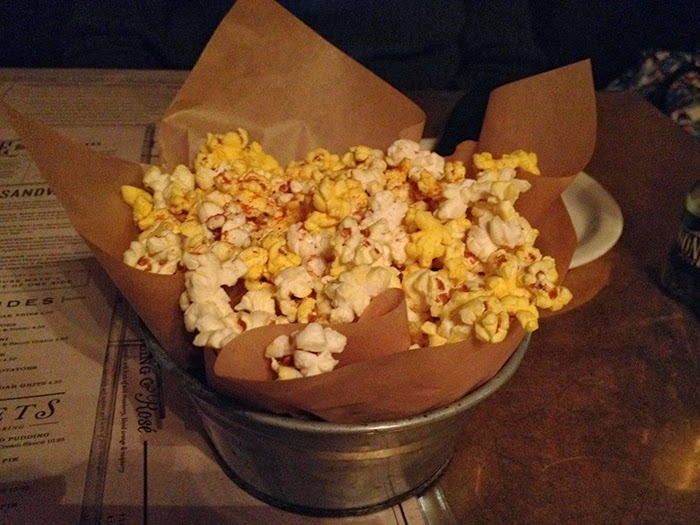 Go Easy On The Appetizers Because The Minute You Sit Down, The Wait Staff  Will Bring Over A Giant Bucket Of Seasoned Popcorn. Definitely The First  Time Iu0027ve ...