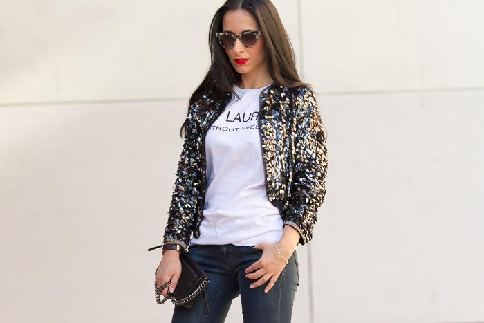 Blogger de moda de Valencia con estilo urbano chic