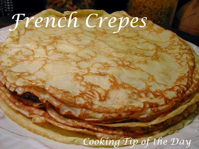 Glorious crepes... so versatile and delicious... from savory to sweet ...