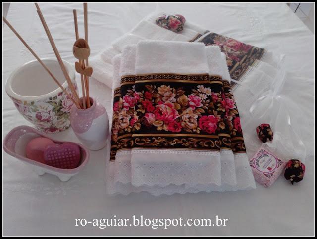 PAP  colocação de barras de tecido em toalhas de banho