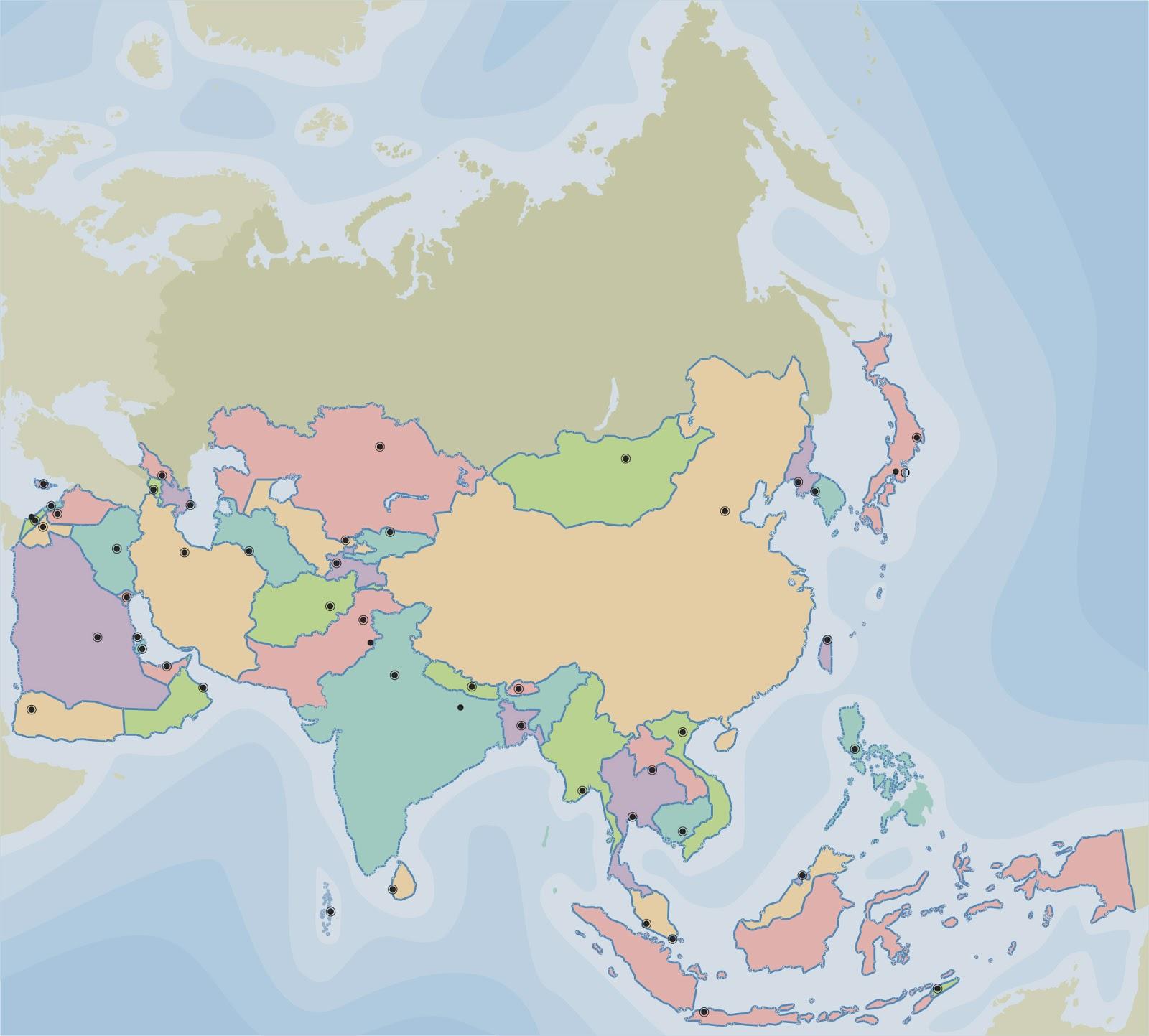 La alacena de las Ciencias Sociales Mapa poltico de Asia Pases