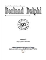 Download Ebook Tutorial Belajar Borland Delphi 7