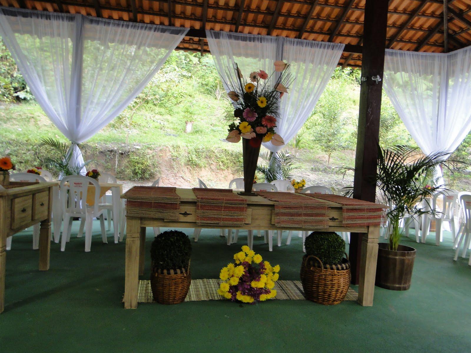 Decoracion Rustica Para Fiestas ~ Evento realizado em um balne?rio de nossa cidade  pediu uma