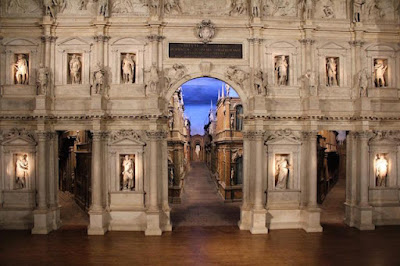 Colour Photo of Teatro Olimpico Vicenza,