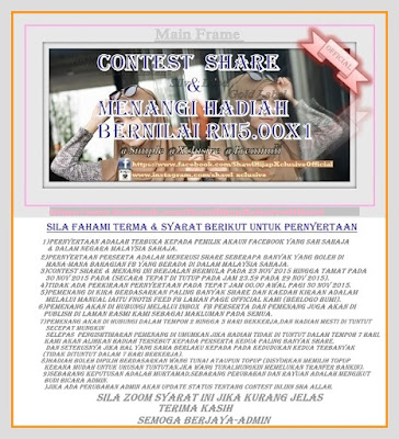 Contest bulan nov 2015 share & menang