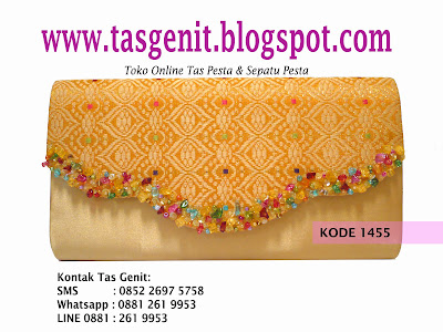 tas pesta, clutch bag, songket, dompet pesta