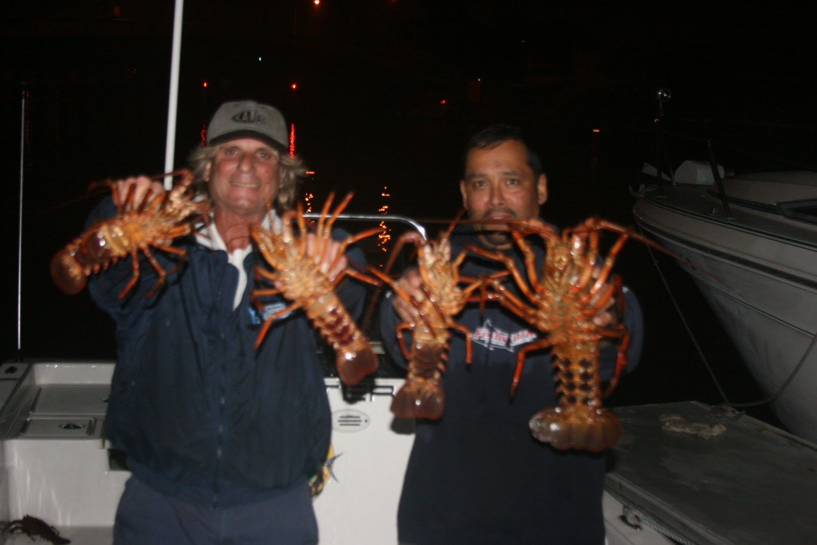 Dan 39 s journal lobster fishing last night in long beach for Sport fishing with dan hernandez