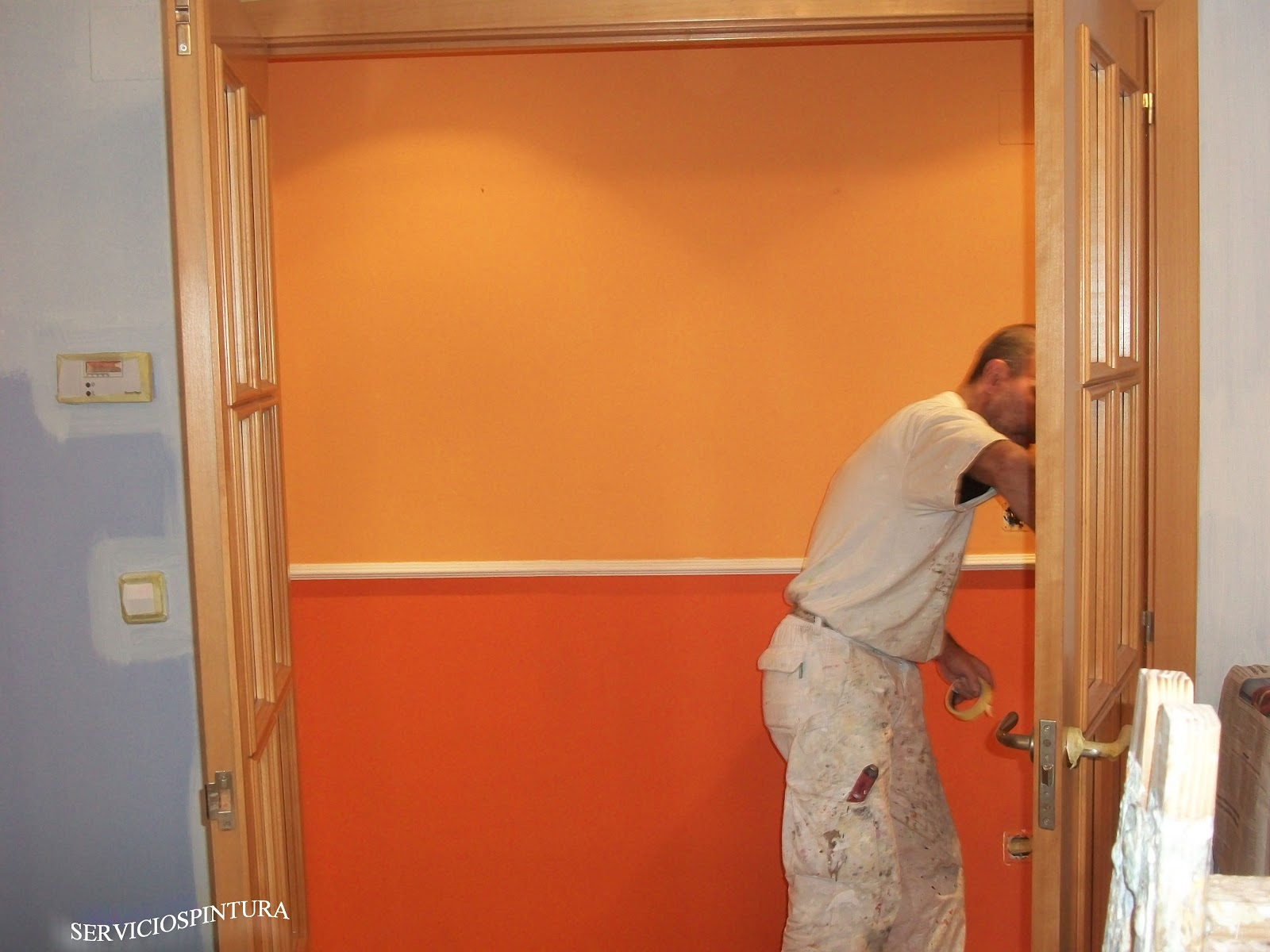 Servicios de pintura en zaragoza pintamos pisos - Pintar paredes dos colores ...