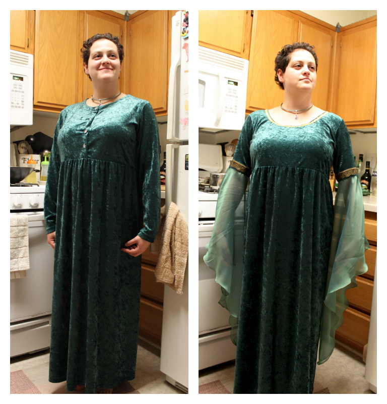 Before and After Thrift Store Prom Dresses