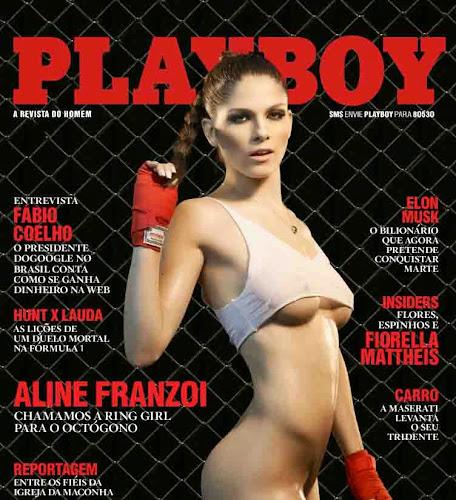 Aline Franzoi Setembro 2013 todas fotos de ensaio super sensual em uma das melhores Revistas Masculinas do mundo