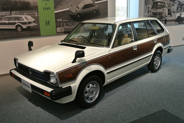 Honda Civic Country, woodie, drewno