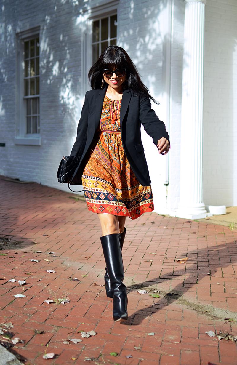 Bohemian dress street style