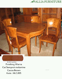 Contoh Furniture Semprot Melamine Cocoa Brown