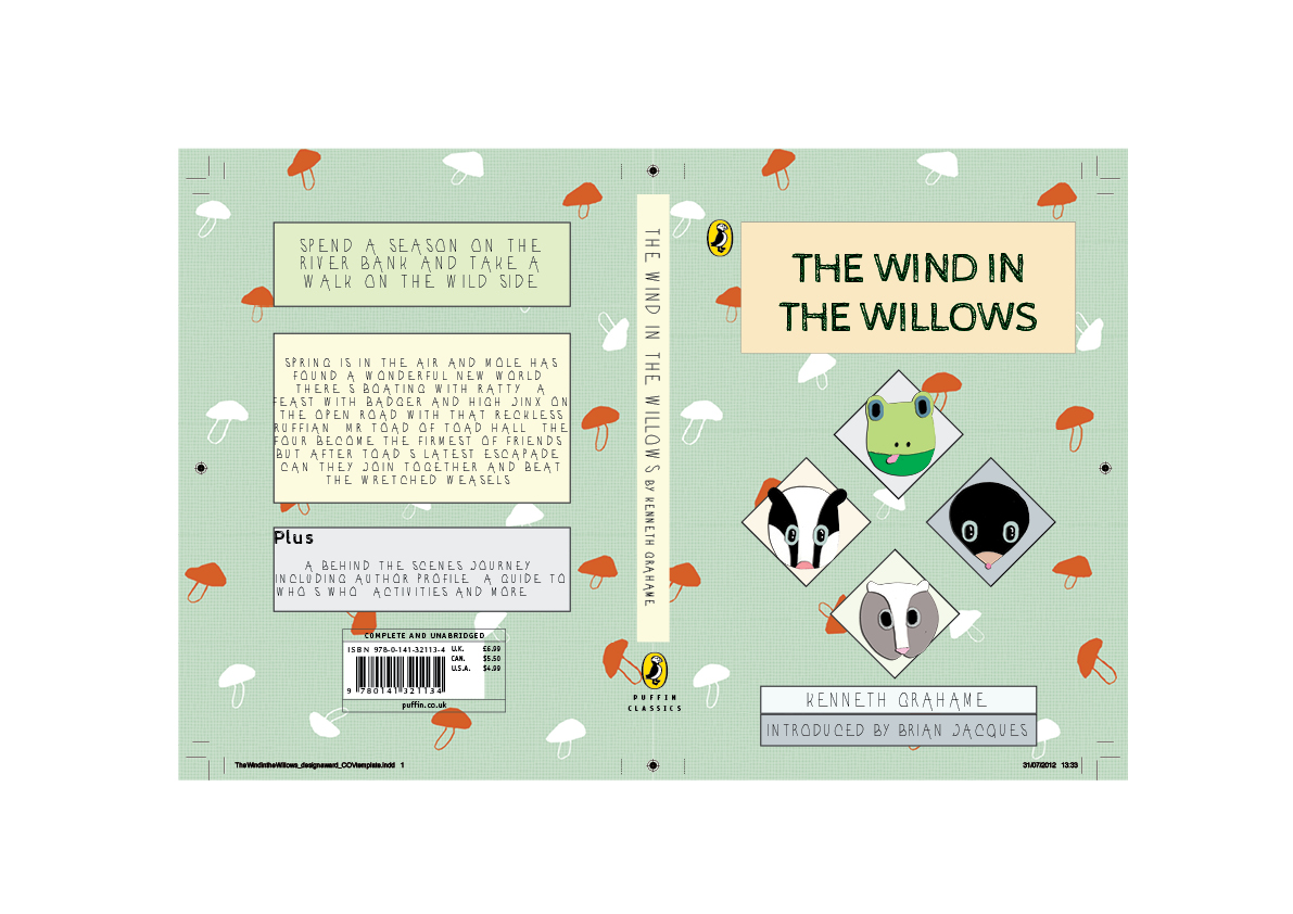 Penguin Book Cover Competition ~ Georgia gabrielle design wind in the willows puffin