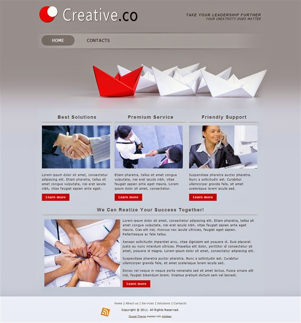 Creative Co - Free Drupal Theme