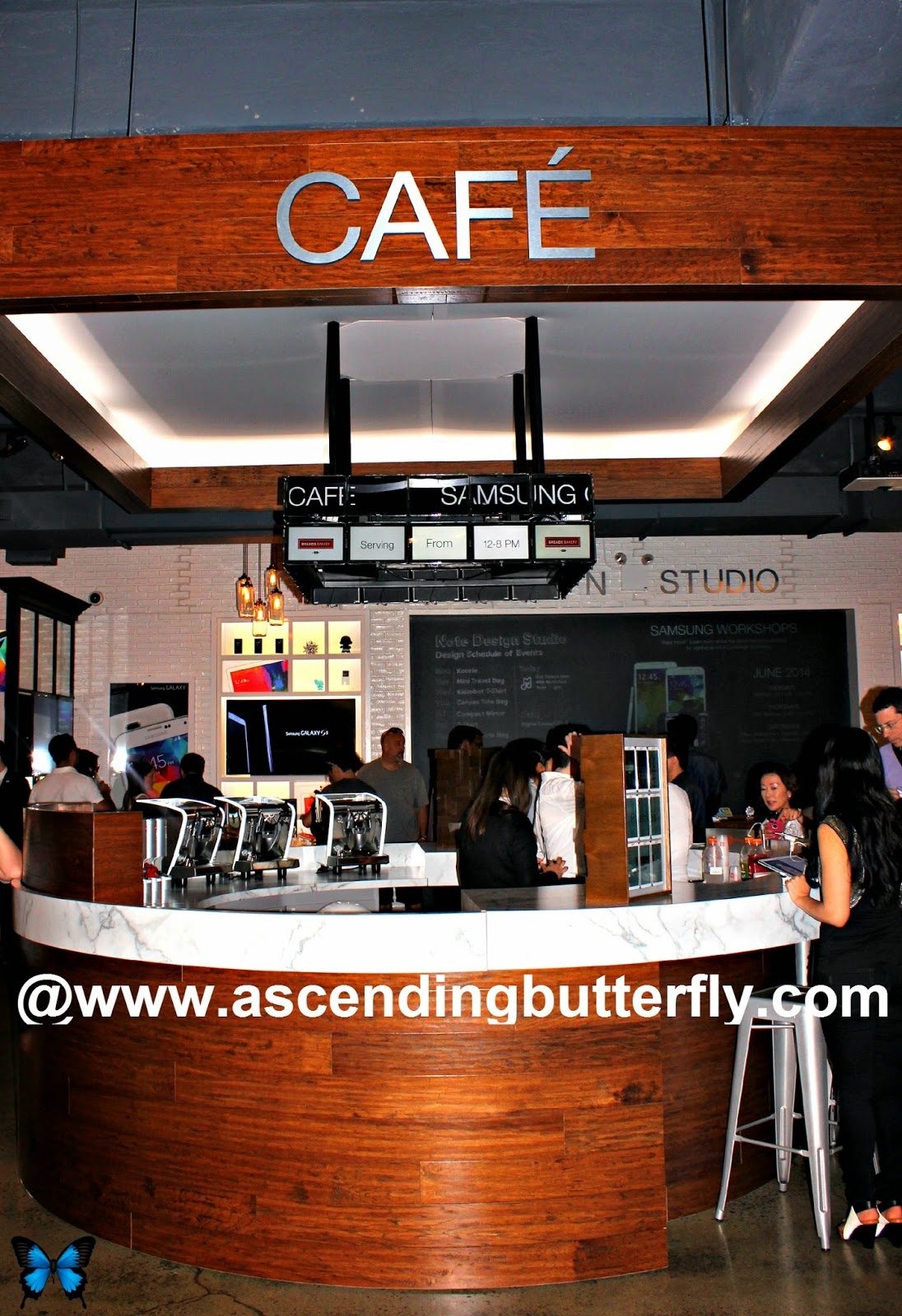 Cafe at the SoHo Samsung Galaxy Studio