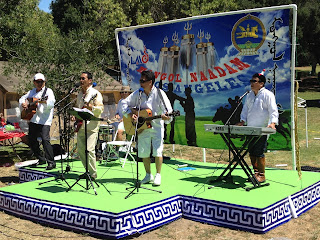 Rock band Dayan performing at the 2015 Los Angeles Naadam festival