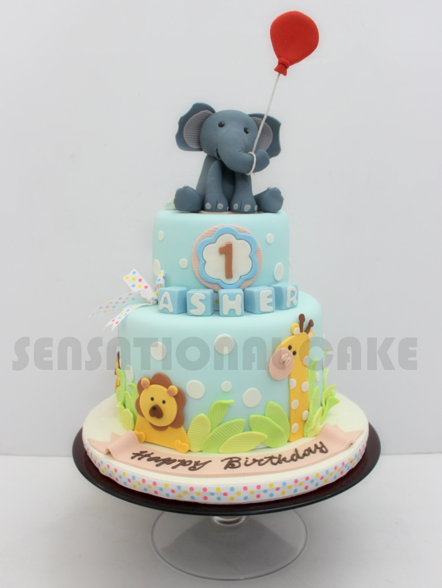 The Sensational Cakes CUTE CUSTOMIZED ELEPHANT FIGURINE CAKE FOR