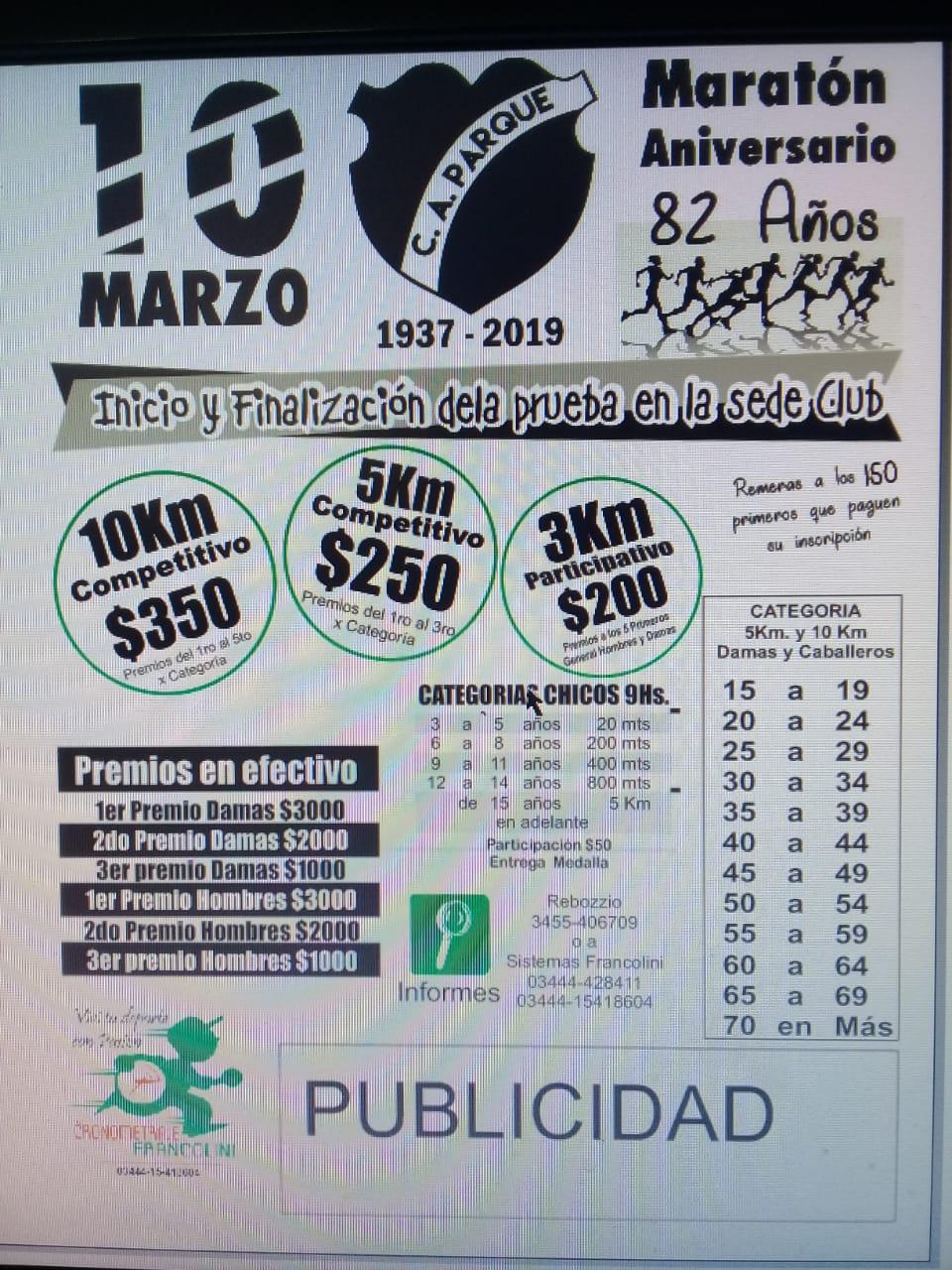 Maraton Aniv. 82° Club Parque (Villaguay)