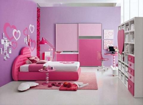ديكورات غرف نوم بنات، ديكور غرفة نوم بنات روعه Girls-purple-bedroom-decorating-ideas-3