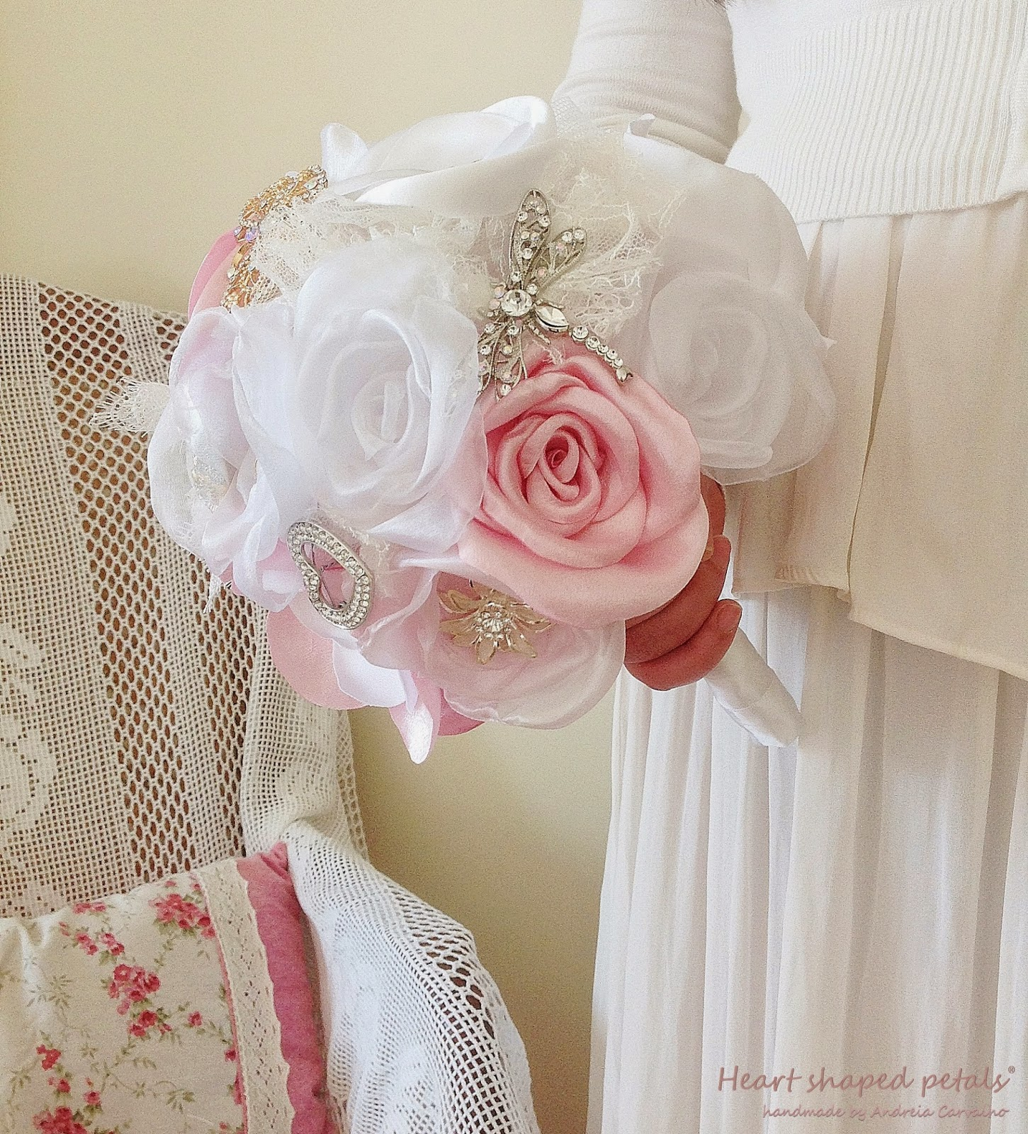 Rose and gardenia bouquet