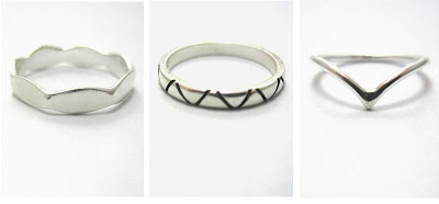 Selection of Wired Jewellery above knuckle rings