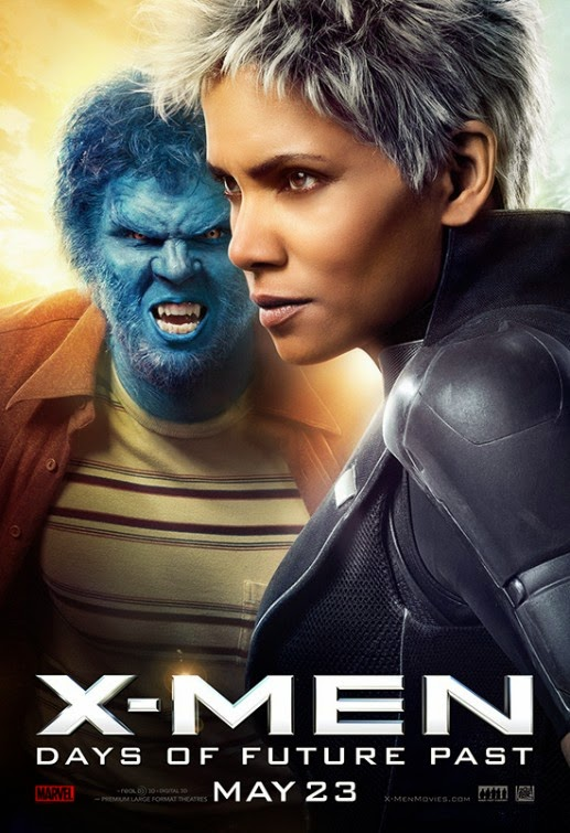 X-Men Days of Future Past Character Movie Poster Set - Nicholas Hoult as Beast & Halle Berry as Storm