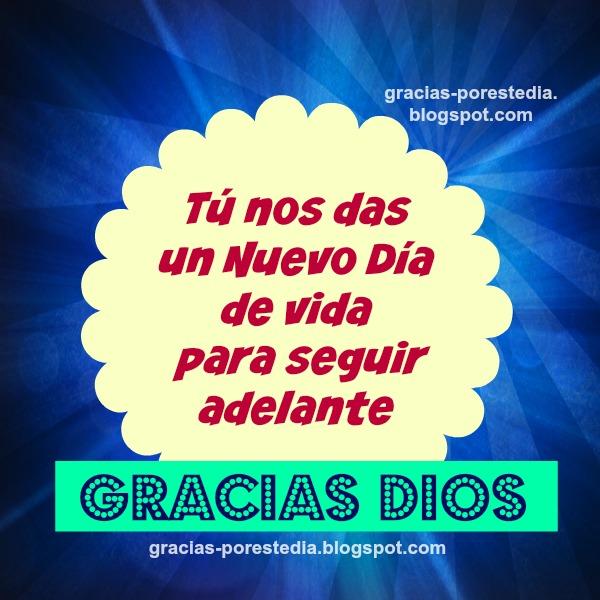 mensaje cristiano de gracias Dios