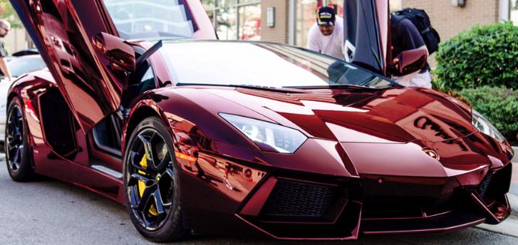 Lamborghini Aventador Gets Chrome Red Wrap World News Cars