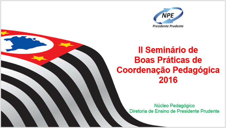 II Seminário de Boas Práticas PC 2016