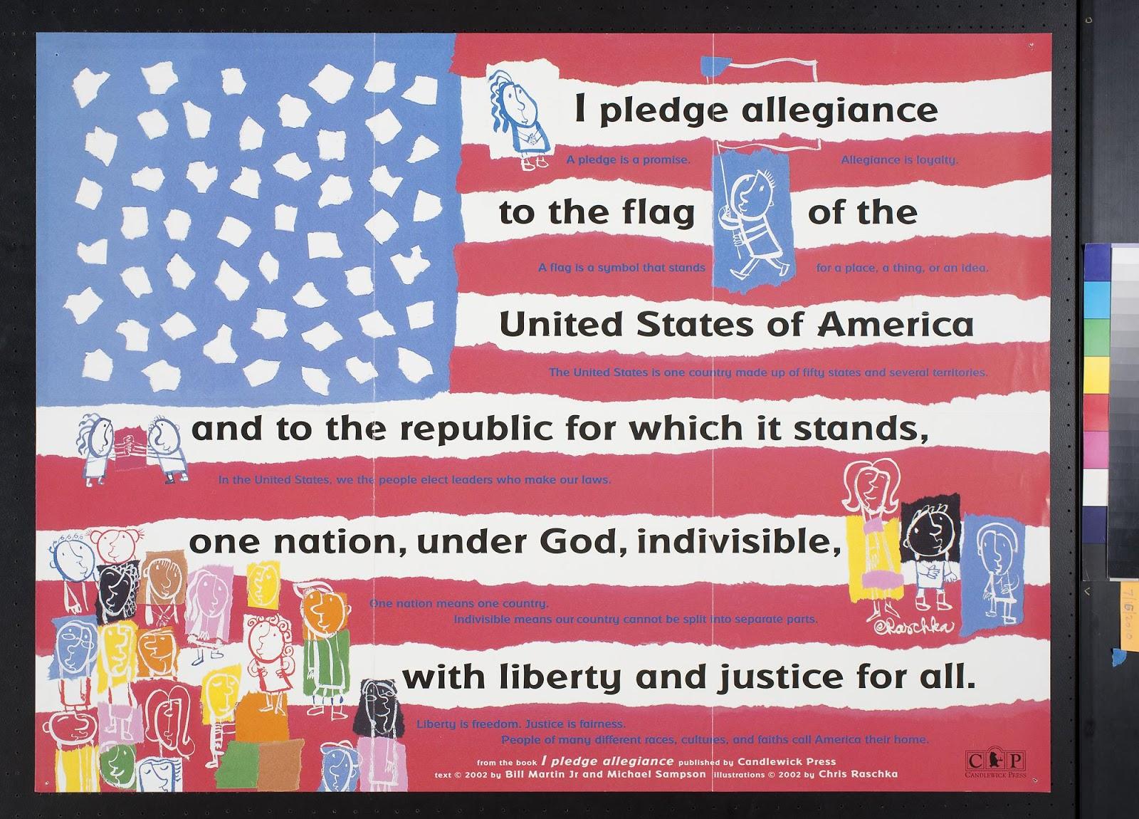 Bookish Ambition PPBF I Pledge Allegiance – Pledge of Allegiance Worksheet