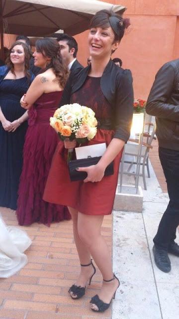 tocado boda negro