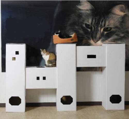 DIY貓咪塔屋 5箱型