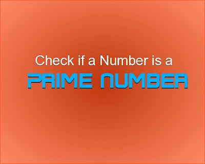 C++ program to check if a number is a prime number