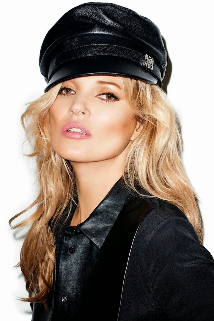 Kate Moss Harper's Bazaar May 2014, Gucci hat