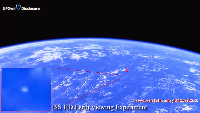 OVNI capturé par ISS HD Terre Regarde Expérience