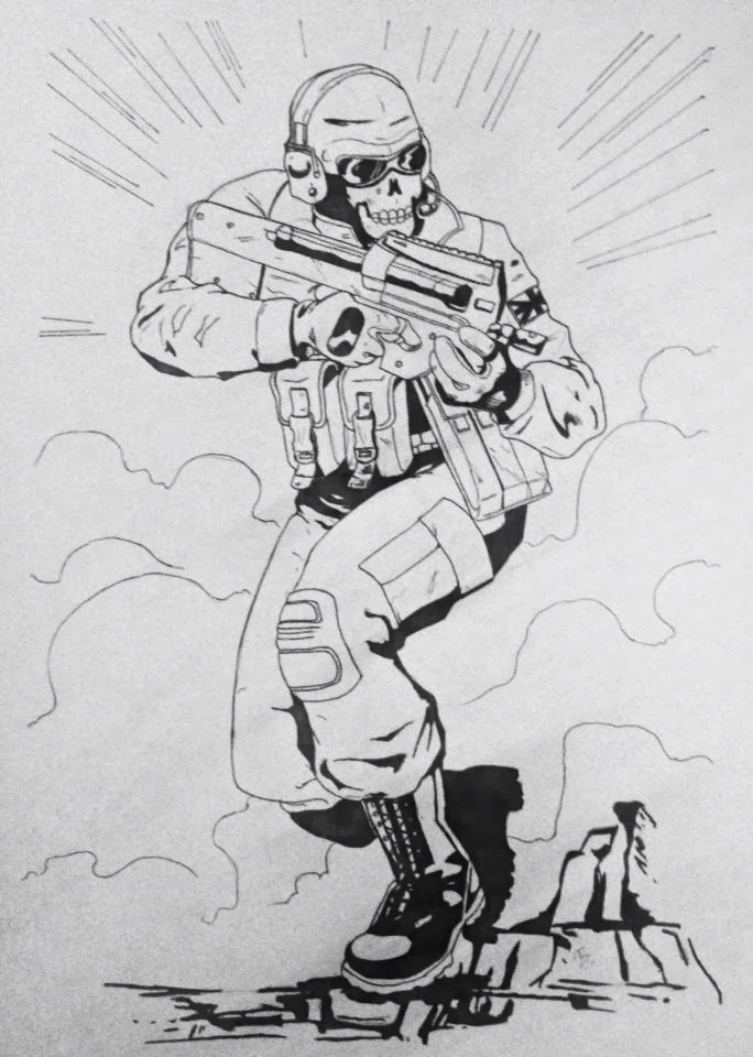 Free Coloring Pages Of Dibujos Call Of Duty Call Of Duty Black Ops Coloring Pages
