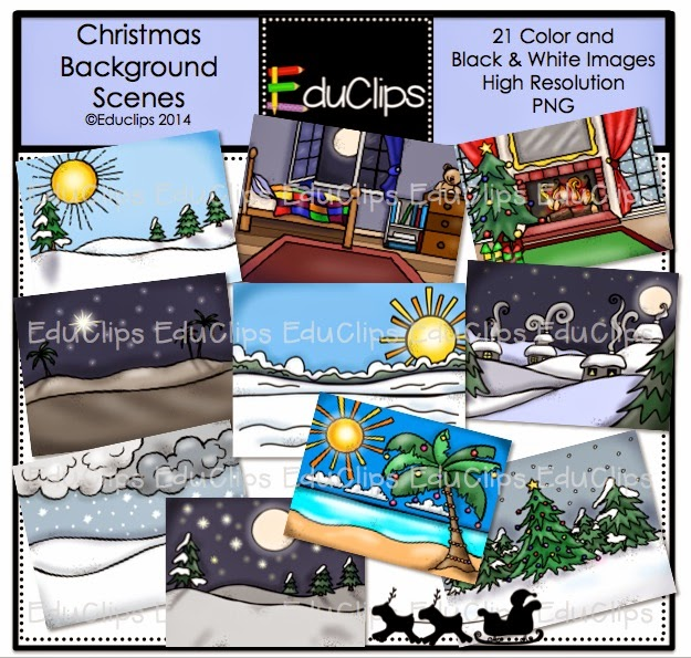 http://www.teacherspayteachers.com/Product/Christmas-Background-Scenes-Clip-Art-Bundle-1530912